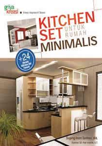 Buku Kitchen Set Untuk Rumah Minimalis Griya Kreasi