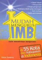 Mudah Mengurus IMB di 55 Kota & Kabupaten di Indonesia
